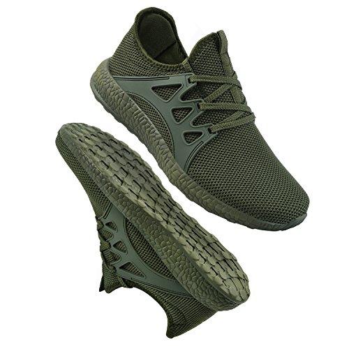 Casual Athletic Green Shoes Womens QANSI Running Tennis Sneakers tq5pvn0