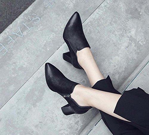 Pattini delle ginnastica delle tennis ginnastica pizzo in da punta Black scarpe 6 di scarpe 5cm da scarpe Scarpe da pompaggio in 7wr78q0P