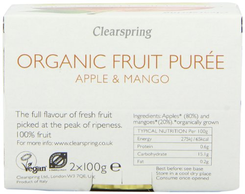 Clearspring Organic Apple and Mango Fruit Puree 2 X 100 g (Pack of 12) by Clearspring (Image #5)'