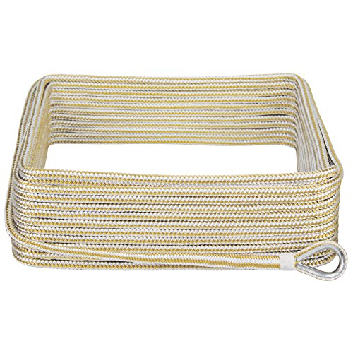 extreme-max-30062042-boattector-double-braid-nylon-anchor-line-with-thimble-3-8-x-100-white-gold