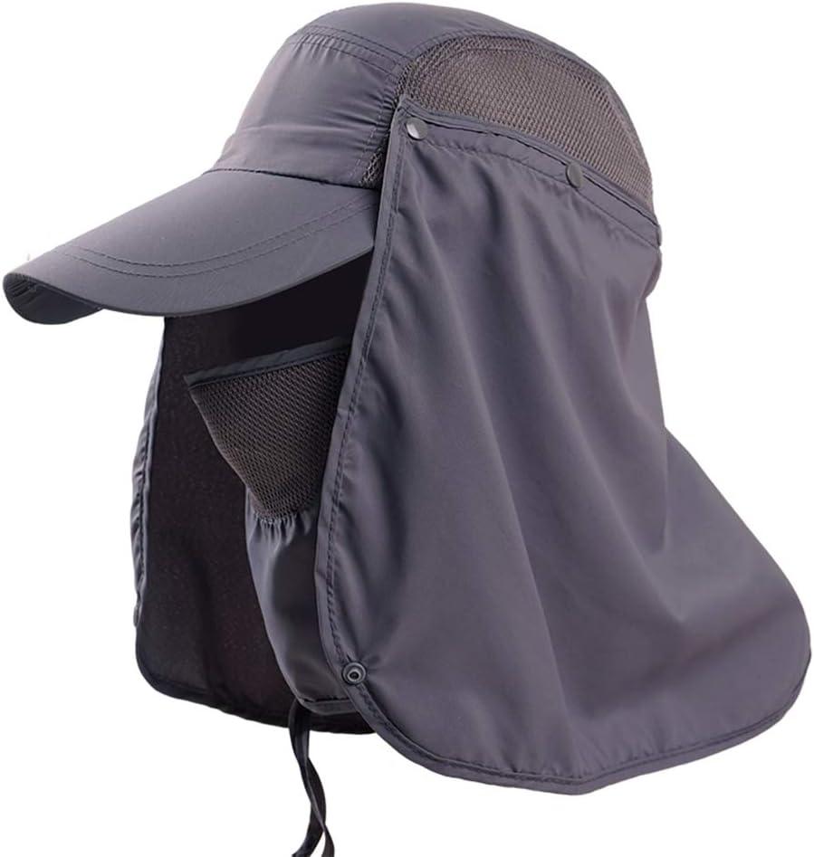 SDBRKYH Pesca protección Sombrero, Anti-Ultravioleta Máscara Sombrero de Sol a Prueba de Agua al Aire Libre a Prueba de Polvo y Pesca Salvaje Sombrero Cubierta Cara de la Campana