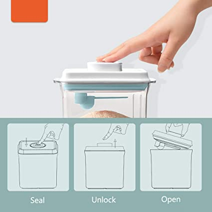 Feuchtigkeitsbest/äNdige Versiegelung Zur Aufbewahrung Von Milchpulver Und Lebensmitteln 1L Tragbare Milchpulver-Aufbewahrungsbox F/üR Lebensmittel Milchpulverspender.Versiegelter Pulverbeh/äLter