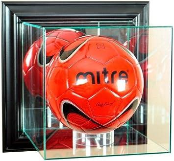 Balón de fútbol montado en la pared vitrina con marco negro ...
