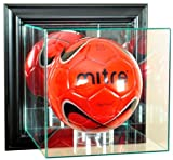 Soccer Ball Wall Mounted Display Case with Black Frame