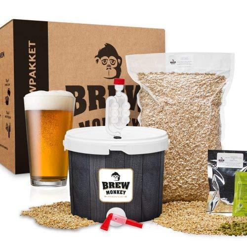 Brew Monkey Basis IPA bierbrouwpakket | bier brouwen in je eigen keuken | bierbrouw starterspakket | bier brouw pakket…