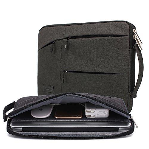 kayond Nylon Fabric 14.1 Inch Laptop Sleeve-Black