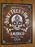 Classic American Usa 1776 Patriotic Freedom Metal Sign Skull Snake Six Shooter