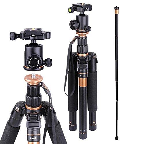 AW Aluminium Camera Tripod Monopod w/ Ball Head Carrying Bag For DSLR Video Pro Photo Studio Travel - 180 Aw Camera Bag