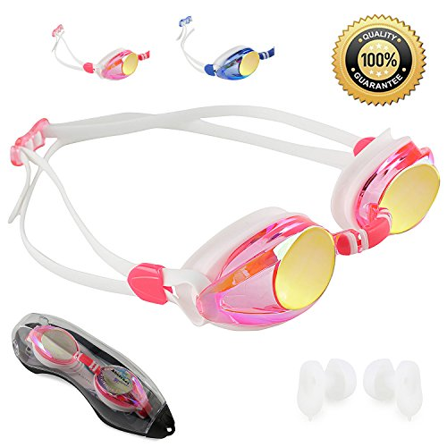 Abstract goggles (Soft Pink/Mirrored Lens/double head - Female Shape Face To Glasses Round Suit