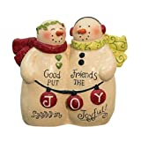 Heart of America Good Friends Resin Snowmen 3''