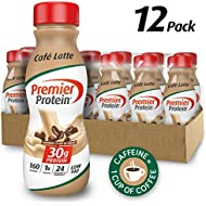 Premier Protein 30g Protein Shake, Cafe Latte, 11.5 Fl Oz, Pack of 12
