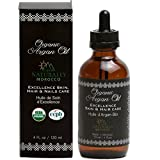 USDA Certified Organic Argan Oil – Pure Moroccan Oil Moisturizing Treatment for Hair, Face, Nails and Body – 4oz Cold Pressed Skin Moisturizer for Men and Women Review
