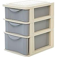 Storage Boxes Storage Boxes Desk Organizer Desktop Storage Box Drawer Storage Plastic Household Multi-layer Underwear Sock Storage Partition TINGTING-Desk Organizer (Color : Gray, Size : 3)