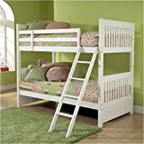 Cheap Hillsdale Lauren Twin over Twin Bunk Bed in White – Without Trundle