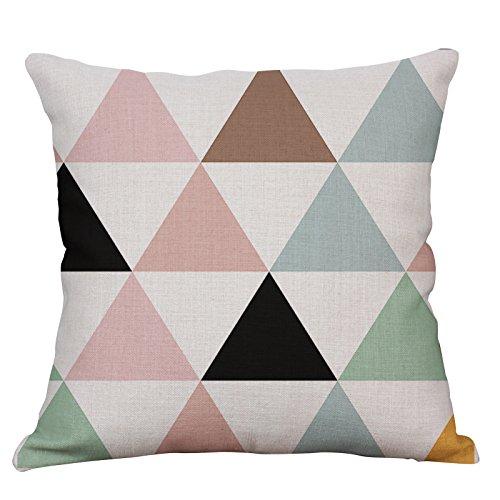 YeeJu Geometric Decorative Throw Pillow Covers Square Cotton