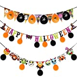 Halloween Banner - Halloween Party Set Banner,3 Pack Party Decors and Supplies for Halloween Party Decorations