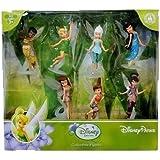 Disney Parks Fairies Pixie Hollow Collectible Figures Playset Tinkerbell Silvermist Fawn Rosetta Iridessa Vidia Periwinkle