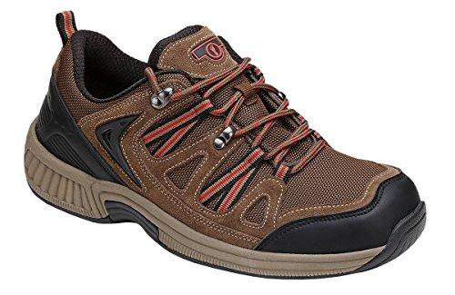 Orthofeet Sorrento Comfort Orthopedic Diabetic Walking Plantar Fasciitis Shoes for Men Black Leather 10.5 W US by Orthofeet