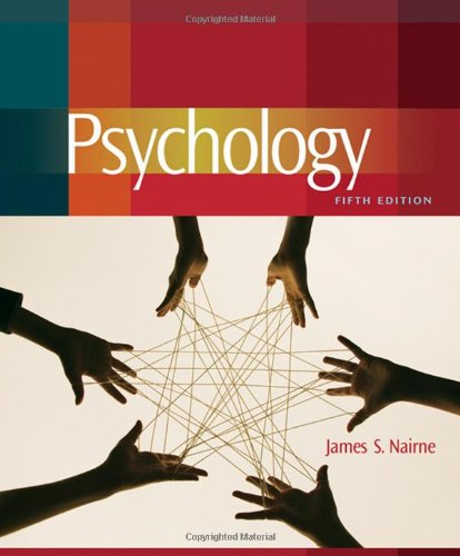 Psychology textbook by james s. Nairne 5th edition for sale in.