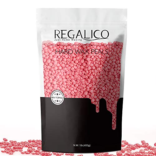 Wax Beans, Regalico Hair Removal Hard Wax Beans (15.8 oz),Brazilian Waxing for Face, Eyebrow, Back, Chest, Bikini Areas, Legs, Perfect Refill for Any Wax Warmer (Pink)