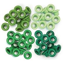 We R Memory Keepers Eyelets Standard, Green, 60 Pack