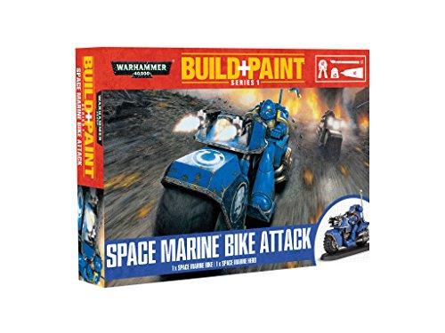 Warhammer 40K Build+Paint Model Set Series 1 Space Marine Bike Attack Revell Kits Photo