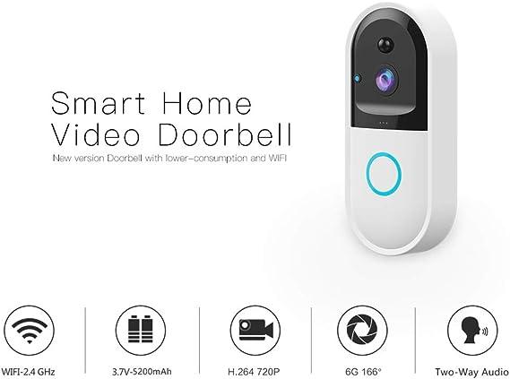 Wireless Doorbell WiFi Video Two-Way Talk Smart Door Bell Security Camera Anytek