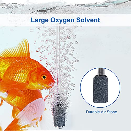 bedee Aquarium Air Pump, High Energy Saving Oxygen Mini Fish Tank Air Pump, Ultra Silent <35dB 1W 0.5L/min Air Pump with Check Valve, Air Stone, Suction Cup for Fish Tanks up to 50 Litre¡