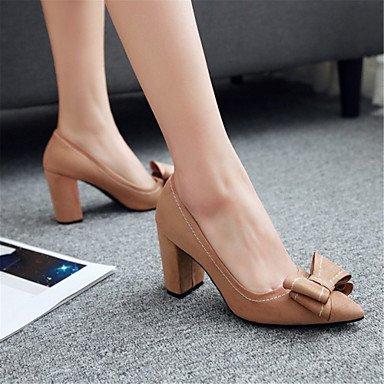 Le donne sexy elegante sandali donna tacchi Primavera Estate Autunno Inverno scarpe Club Comfort Ufficio di velluto & Carriera Party & abito da sera Chunky Heel BowknotBlack giallo , nero , noi10.5 /