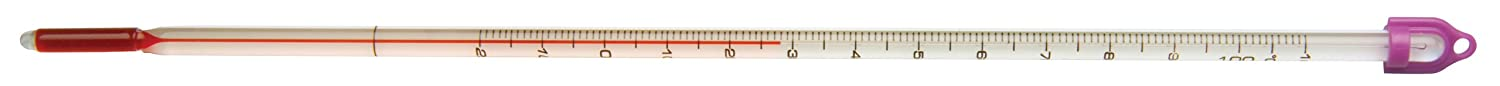 GSC Thermometer, -20 to 110 Degree C, White Backed, Total Immersion 1017386