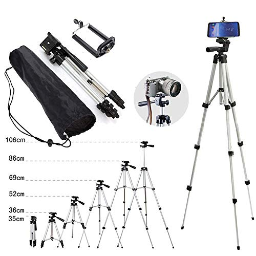 110cm Portable Camera Tripod Stand Holder Adjustable Rotatable Retractable Aluminum Tripods Smartphones Mount iPhone X XR XS Max 7 7 6s 6 SE Plus Samsung S9 S8 Note 8 9 Party Other Moblie Phone