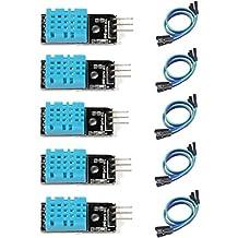 HiLetgo 5pcs DHT11 Temperature and Humidity Sensor Module for Arduino Raspberry Pi 2 3