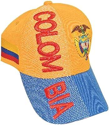 Colombia gorras de béisbol sombreros con 3 3d bordado, - 3 piezas ...