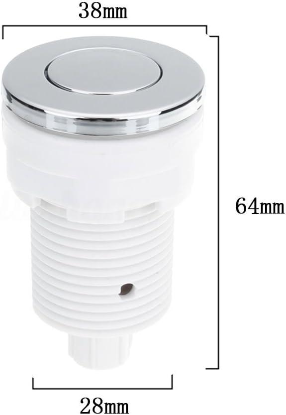 White//32mm 32 mm UxradG 28//32//34/mm impermeabile aria pressione interruttore vasca idromassaggio spa massaggio bagno smaltimento rifiuti rifiuti giocattolo aria interruttore a pulsante
