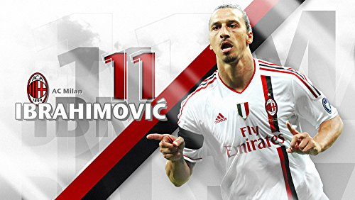 Zlatan Ibrahimovic Fussbal AC Milan Fun T-shirt -037
