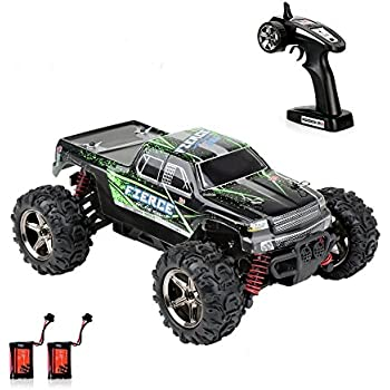 Crenova 1/24 Scale Rc Car 4Wd 30Mph Radio Controlled Car Rtr Fast Racing Cars Remote Control Car 3-Stage Differential Gear Offroad Monster Truck Rc Vehicle With 2 Rechargeable Batteries, 2.4Ghz