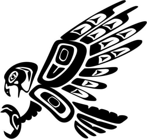 Tribal Eagle Bird Wildlife Vinyl Graphic Car Truck Windows Decor Decal Sticker - Die cut vinyl decal for windows, cars, trucks, tool boxes, laptops, MacBook - virtually any hard, smooth surface