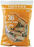 BAZIC Quarter Coin Wrappers, 36 Per Pack