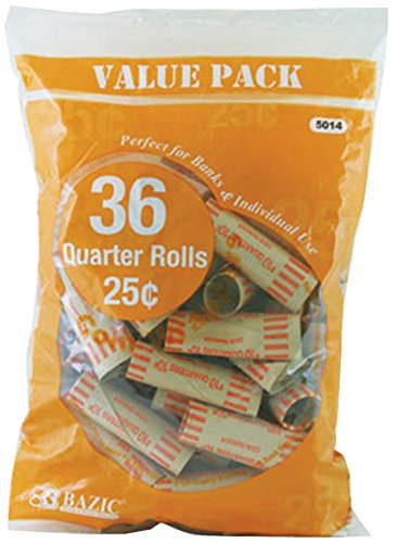BAZIC Quarter Coin Wrappers Pack