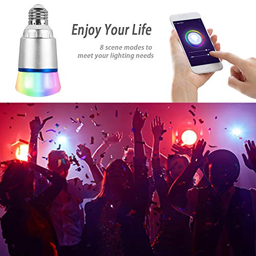 ShellBox Smart Led Bulb, Work with Amazon Alexa and Google Assistant, Phone Control, Color Tunable 10W A19 Wi-Fi Smart Bulb, 60W Equivalent by ShellBox (Image #7)