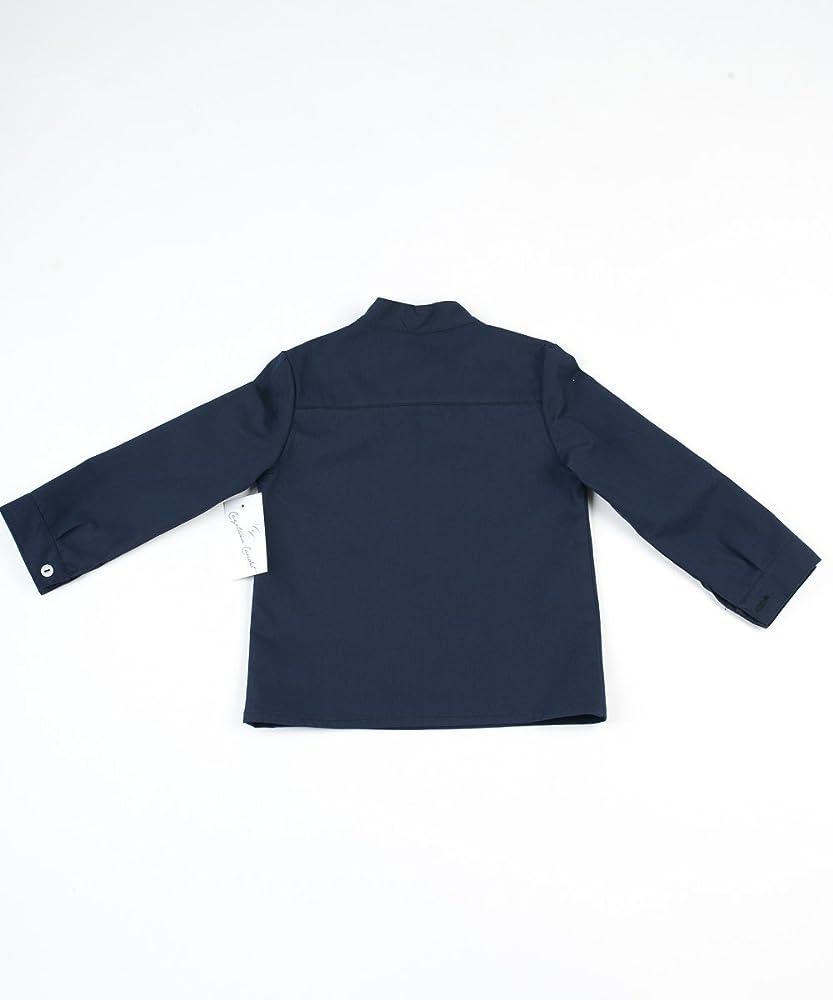 Cayetana Caudet - Camisa para niño, talla 12 meses, color azul marino: Amazon.es: Bebé