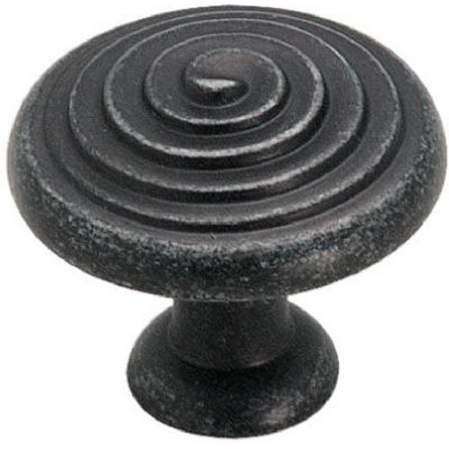 Amerock BP19252WID Divinity Round Knob, Wrought Iron Dark, - Divinity Pull Spiral Cabinet