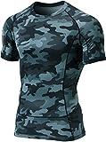 Tesla TM-MUB13-MDG_Small Men's Short Sleeve T-Shirt Cool Dry Compression Baselayer MUB13