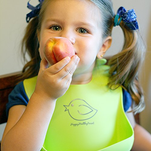 Waterproof Silicone Bib Easily Wipes Clean! Comfortable ...