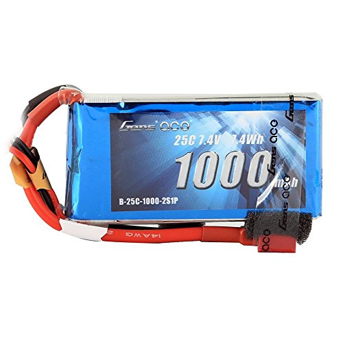 Gens ace 7.4V 1000mAh 2S 25C/50C LiPo Battery Pack with Deans Plug for FPV 180 220 250 Size Helicopter 800mm Warbird RC Plane Heli Airplane FPV - 25c 50c Lipo Battery
