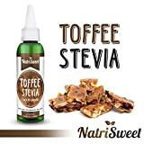 NatriSweet Toffee Stevia Liquid Drops (2 fl oz / 60 Milliliter) | Zero-Calorie Natural Sugar Substitute | Highly Concentrated Stevia Extract | Naturally Flavored