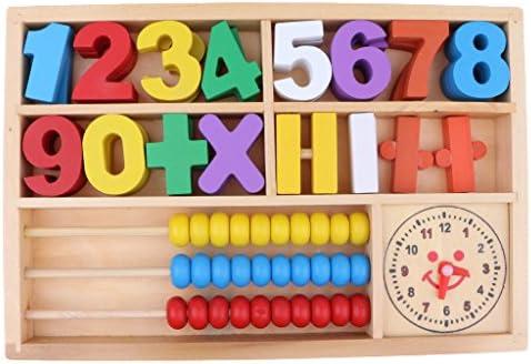 数学学習玩具 数字ブロック クロック 計算フレーム アバカス キット 子供 教育玩具 木製