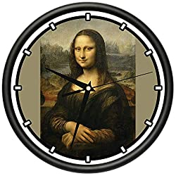 SignMission Mona Lisa Design Wall Clock | Precision Quartz Movement | Décor for School Class Office Bedroom Decoration,