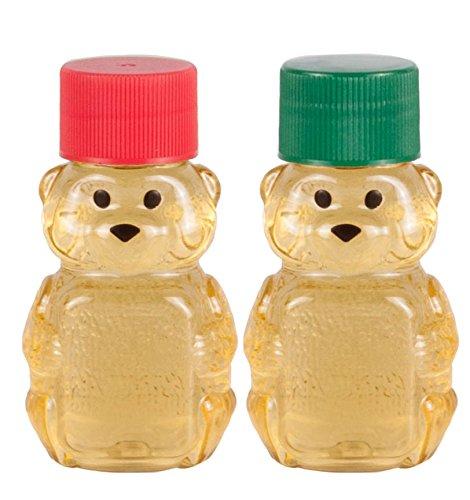 2-ounce RetroPak Plastic Panel Bear Christmas Variety 24-Pack (Red and Green) (Bottles Honey)