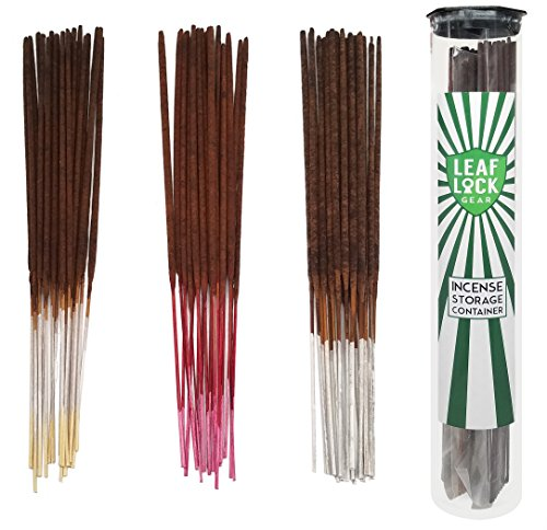 Bundle - 61 Items - Wild Berry Incense Vanilla Scent Sampler. Includes 20 Sticks Each of Vanilla, Cherry Vanilla, and Pear Vanilla with Incense Stick Storage Container